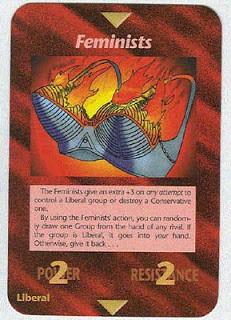 Carta do jogo illuminati - Feminismo