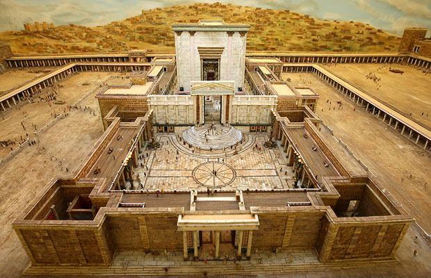 Ilustração de como seria o Templo de Herodes.