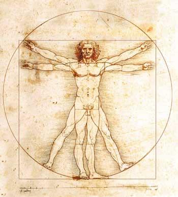 O homem como o centro do universo.