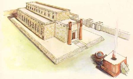 Ilustração de como seria o Templo feito por Salomão.
