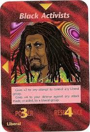 Carta do jogo illuminati - Ativista negro