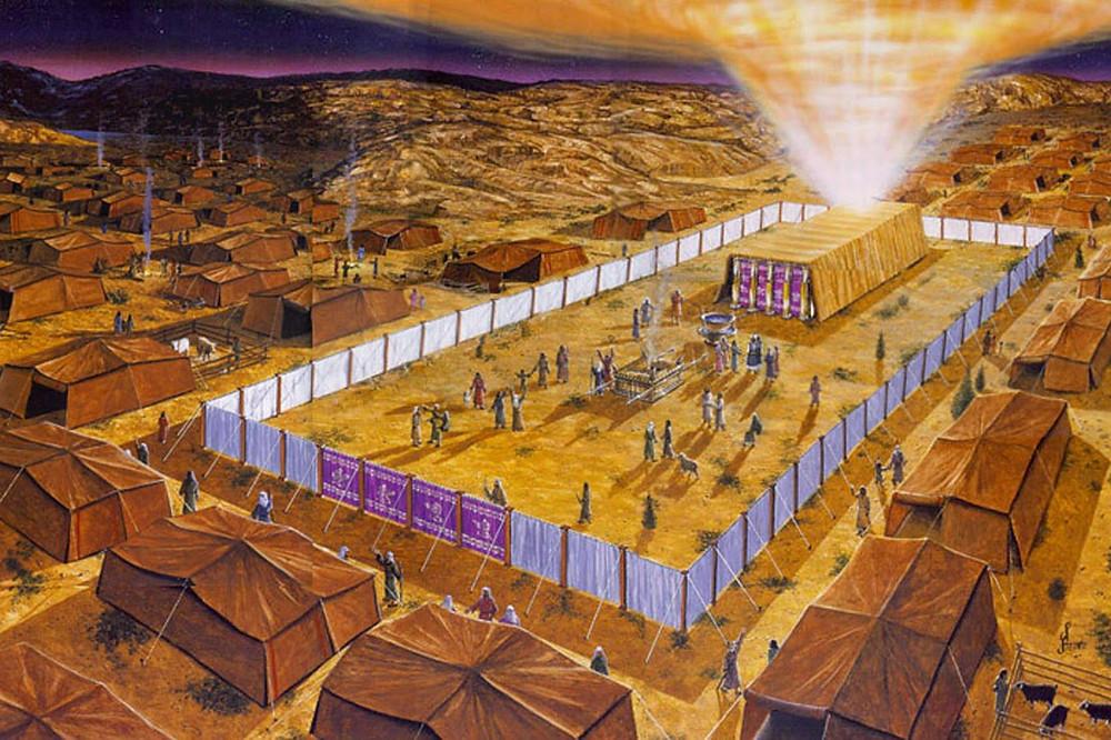 Ilustração de como seria o Tabernáculo.