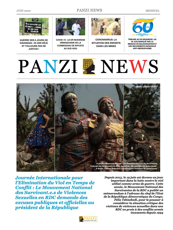 Panzi News, le mensuel de la Fondation Panzi. Edition Juin 2020
