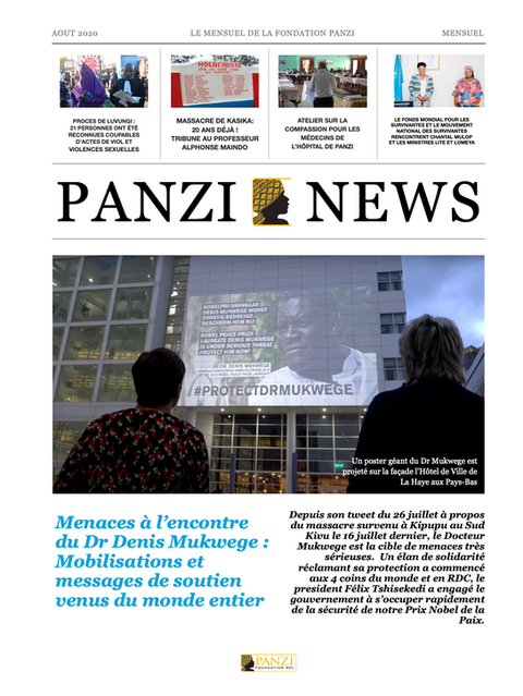 Découvrez le nouveau numéro du Panzi News (août 2020), le mensuel de la Fondation Panzi