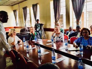 L'ambassadrice de Suède en visite à l'Hôpital de Panzi