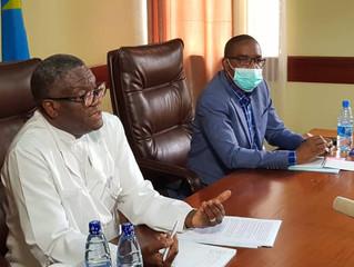 Conférence de presse du Docteur Denis Mukwege et du Gouverneur de la Province du Sud Kivu, Théo Ngwa