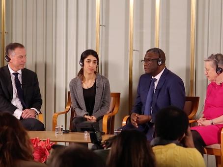 Extraits de la conférence de presse officielle du Prix Nobel de la Paix 2018
