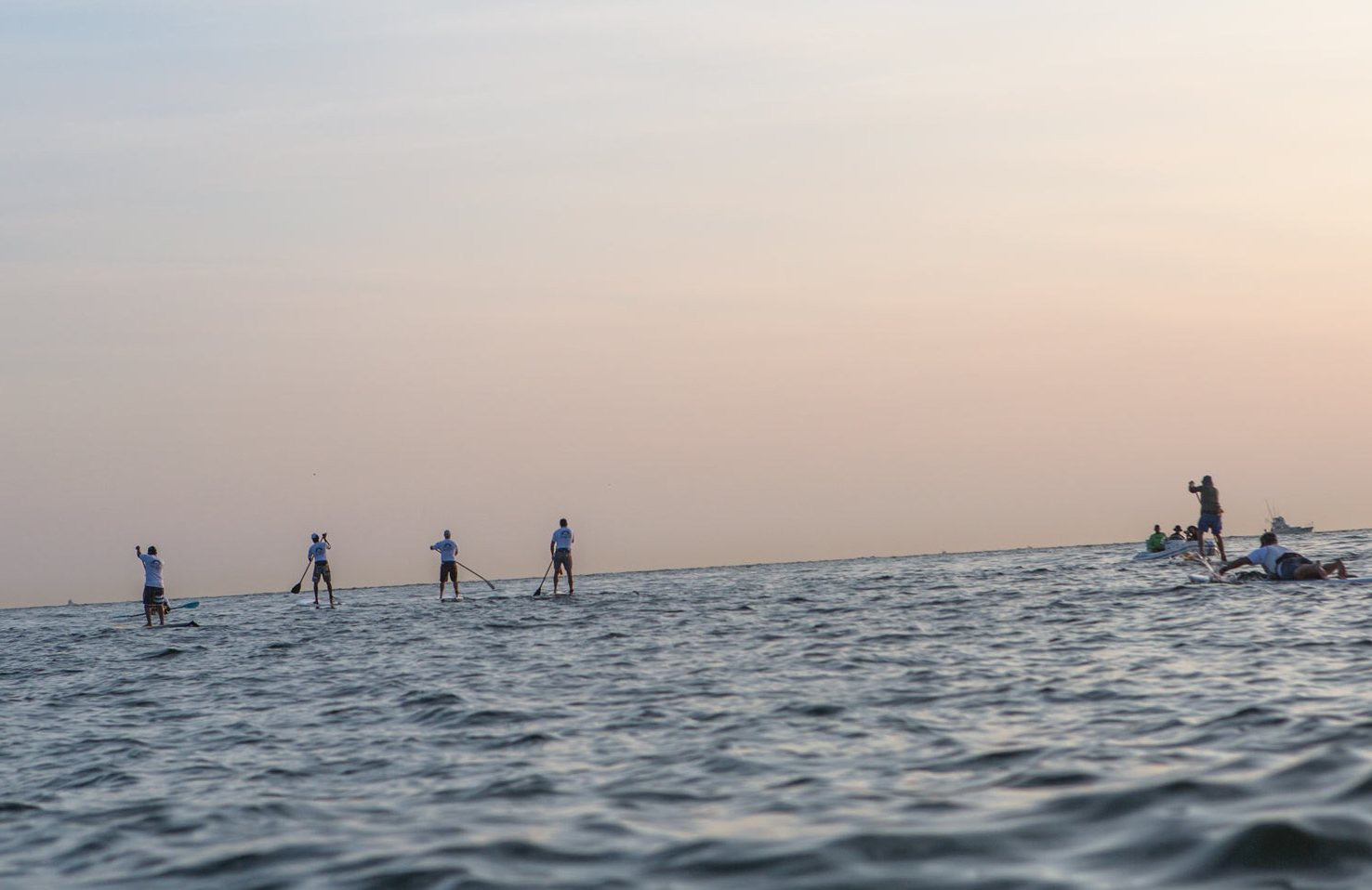 4 Paddlers at Sunrise