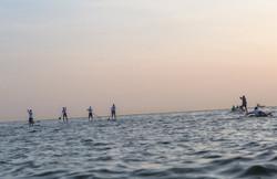4 Paddlers at Sunrise