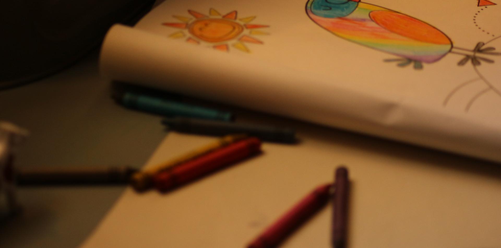kolorowanki w kąciku dzieci
