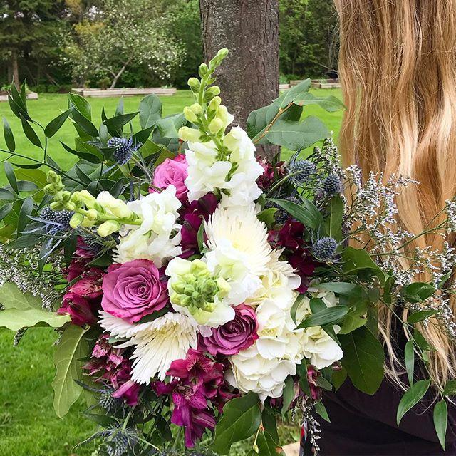 Bouquet making today💕_#bridalshower _#b