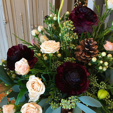 Christmas florals for a special family.j