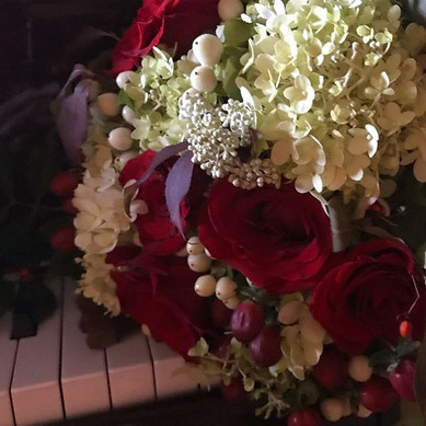 Saturday morning creation._Bouquet of hy