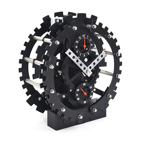 Gear shaped Clock alarm, front