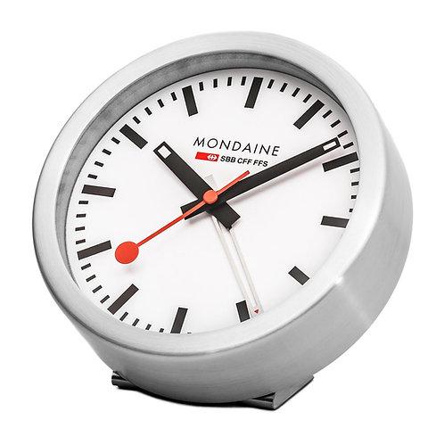Mondaine swiss railway table clock on stand