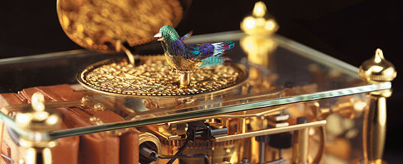 Reuge Music Box Singing Bird