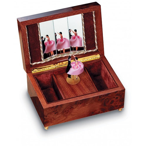 Reuge music box, dancing couple, open box