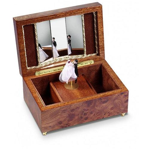 Reuge music box, dancing wedding couple, open box