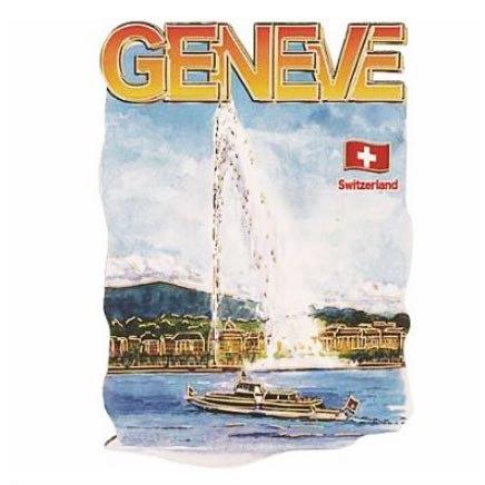 Aimant Genève bateau MDF