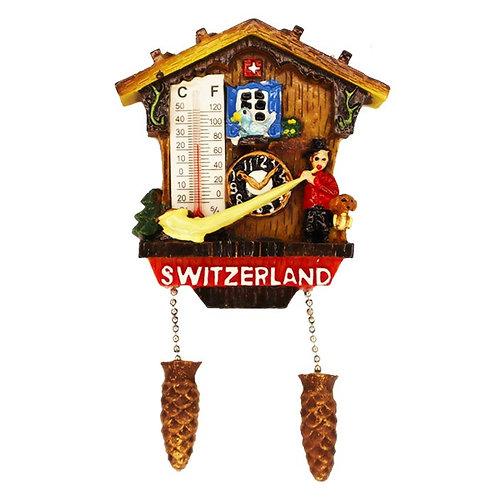 Magnet Switzerland Chalet with Alphorn & Temperature
