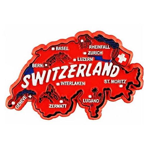 Aimant carte suisse plastique