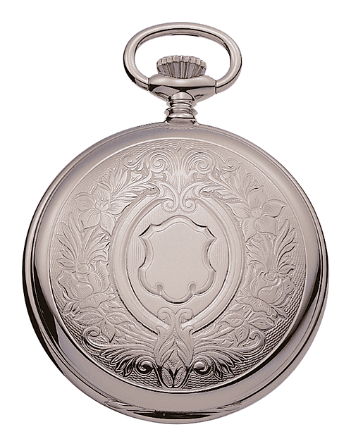 Aérowatch pocket watch lid, steel case, mechanical 1 day