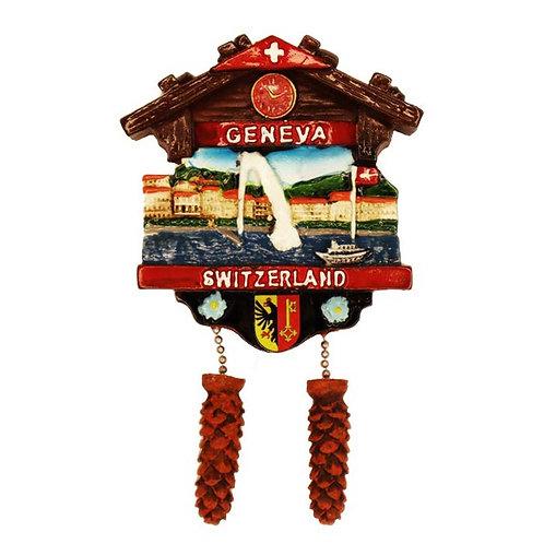 Magnet Geneva Switzerland Chalet Vue