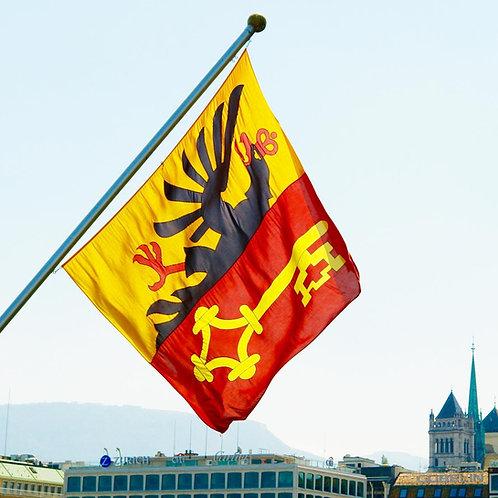 Geneva Flag to raise