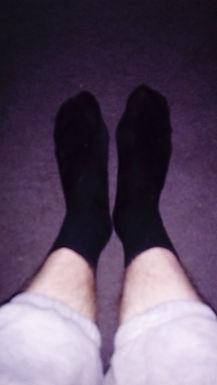 Black sweaty socks