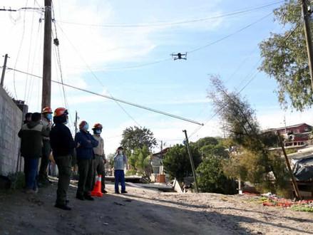 Con drones vigilan los deslizamientos de tierra de la colonia 3 de octubre en Tijuana