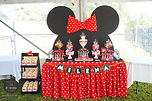 sydney dessert table candy bar mini mouse red pink ears