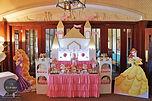 sydney Disney princess candy bar dessert table pink gold castle elegant