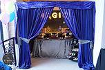 sydney magic show candy bar dessert table purple