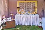 sydney elegant kitchen tea dessert table candy bar gold rustic