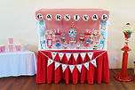 sydney carnival dessert table candy bar red
