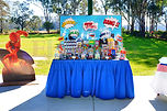 sydney super hero comic book dessert table candy bar