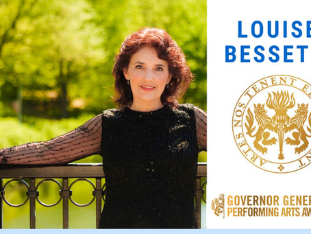 Louise Bessette is receiving the Governor General's Performing Arts Award for her Lifetime Artis
