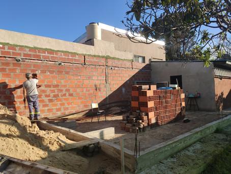 ¡Construcción del nuevo Quincho!