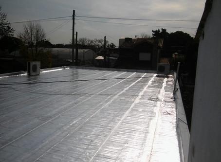 Reparación del techo en la sede de Suipacha 240