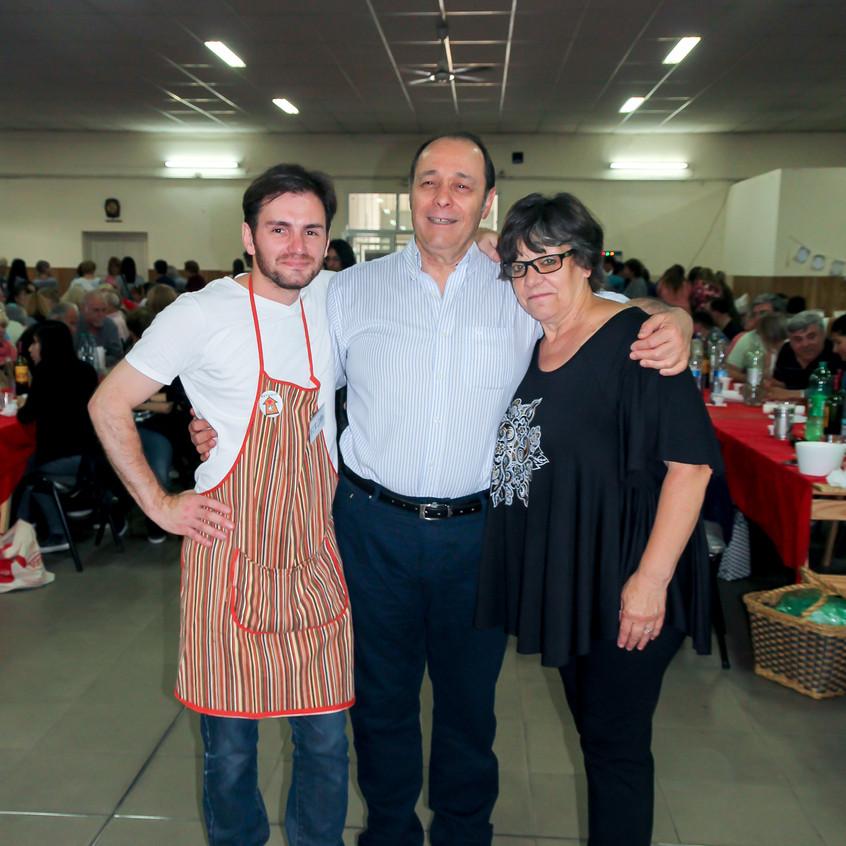 Fernando Cury, Oscar Fossati y Alicia Norma Fernandez