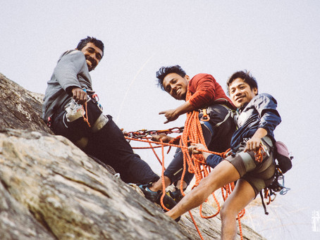 How to learn rock climbing in India