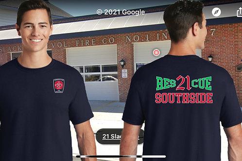 Navy Jerzees T-shirt