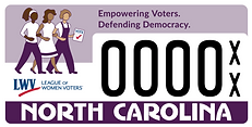 North Carolina League of Women Voters specialty license plate design