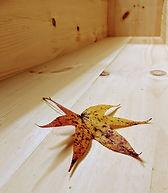 leaf in casket interior