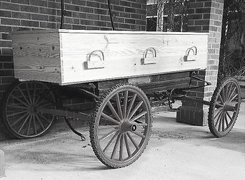 casket on wagon