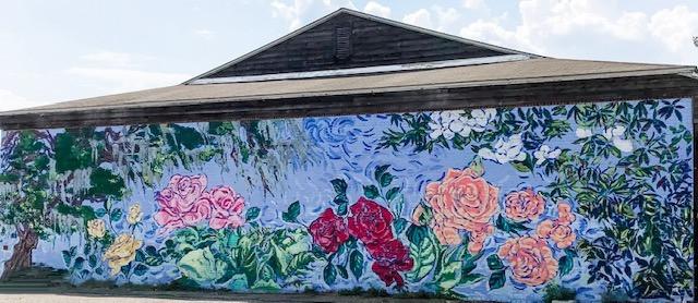 Rose Garden Building Mural