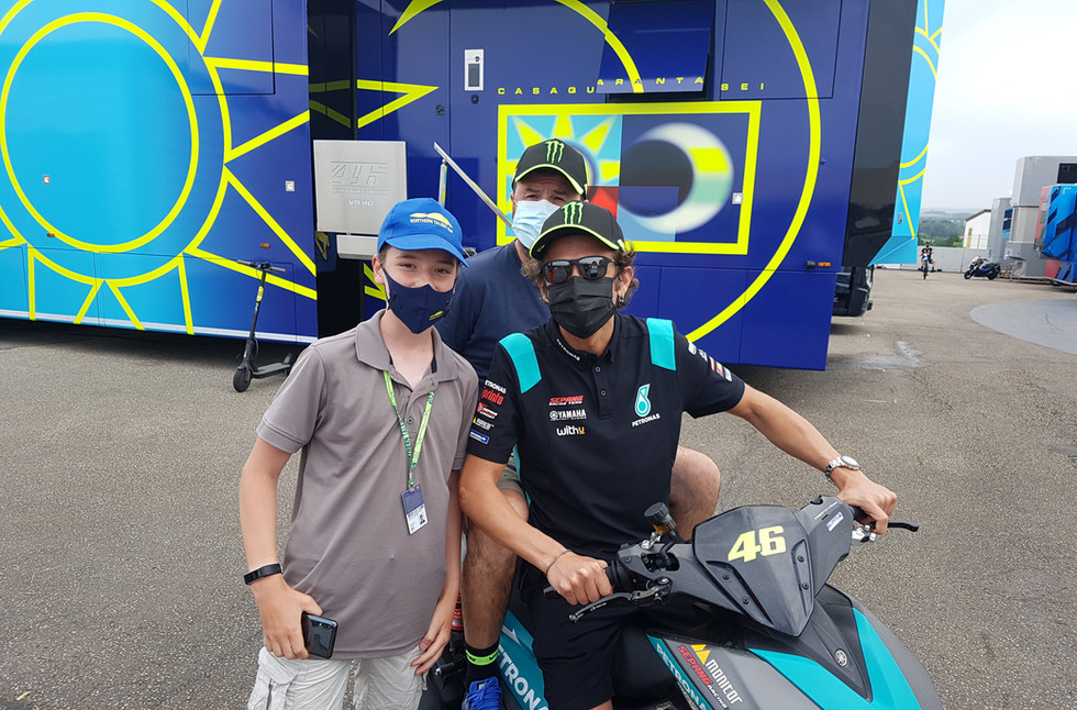 Valentino und Valentino Rossi 2021