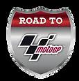Logo Road to MotoGP. Dieses Logo zeigt, dass die Nachwuchsserie eine Chance auf einen Platz in der MotoGP bietet. Valentino Herrlich ist einer dieser Nachwuchstalente.