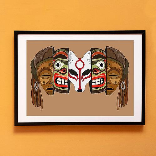 Mixed Mask Poster