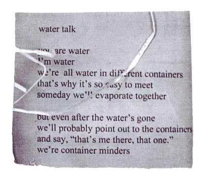water talk.
